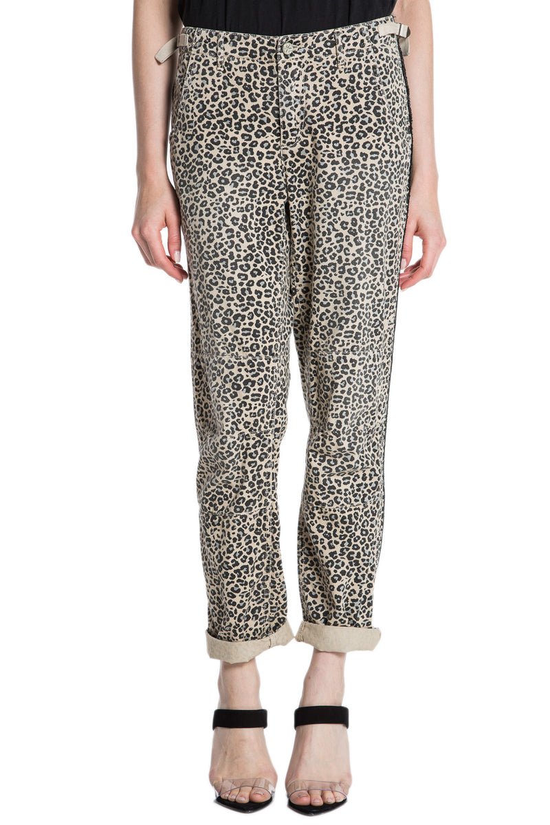 CAMP PANT ROLLED W/ STRIPES - CAMO LEOPARD - Da-Nang