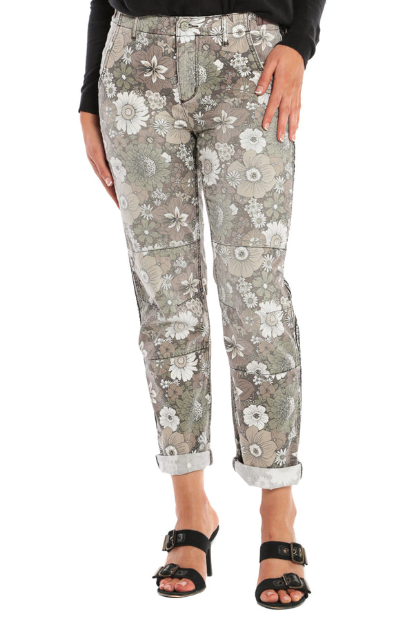 CAMP PANT ROLLED W/ STRIPES - FIRE FLOWER - Da-Nang