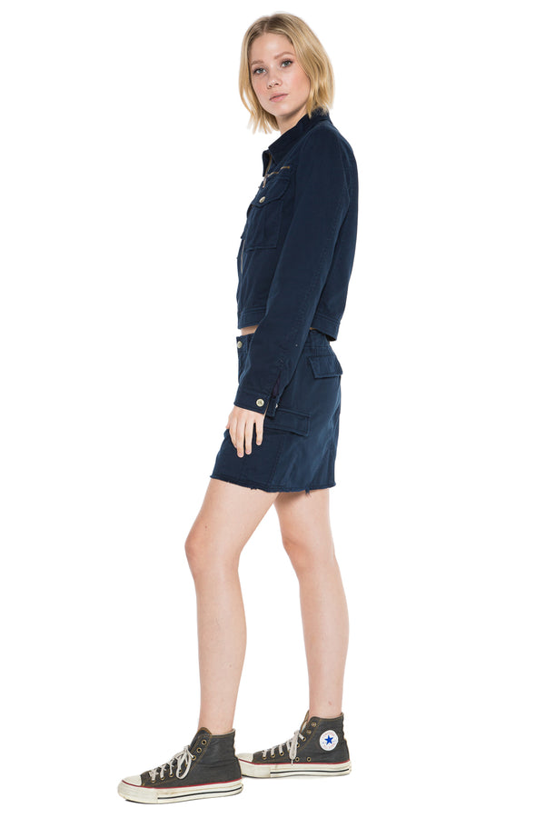 ALPHA CROP JACKET - NAVY - Da-Nang