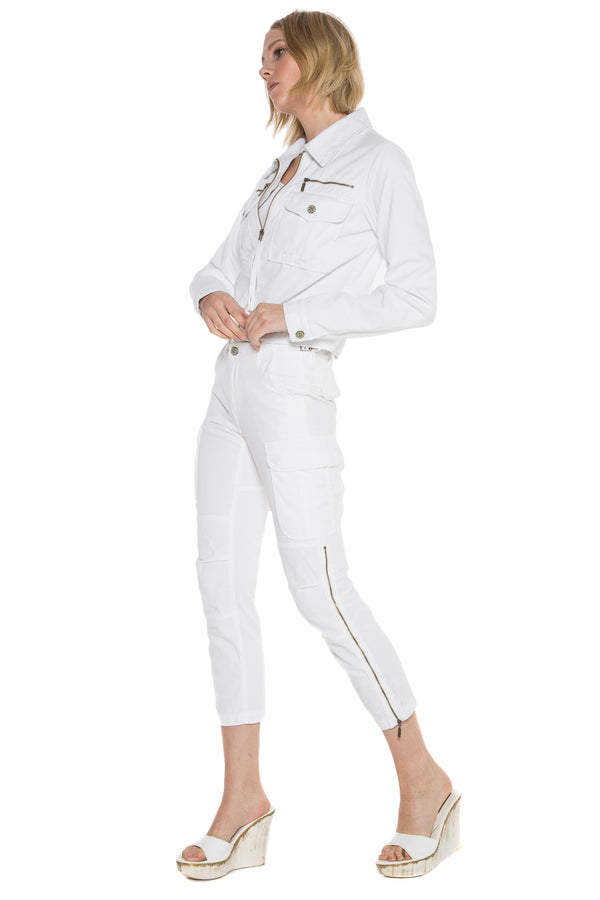 ALPHA CROP JACKET - WHITE - Da-Nang