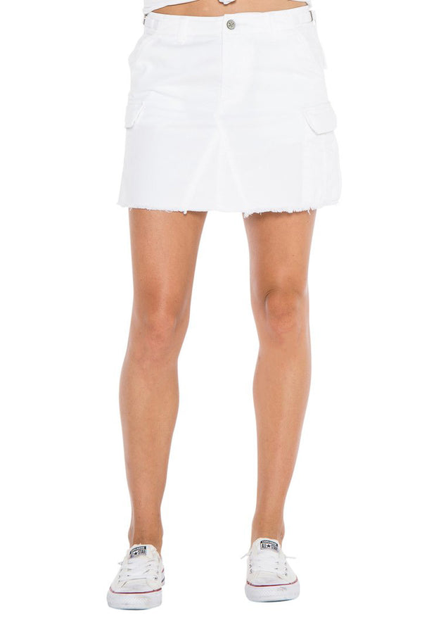 MILITARY SHORT SKIRT - WHITE - Da-Nang