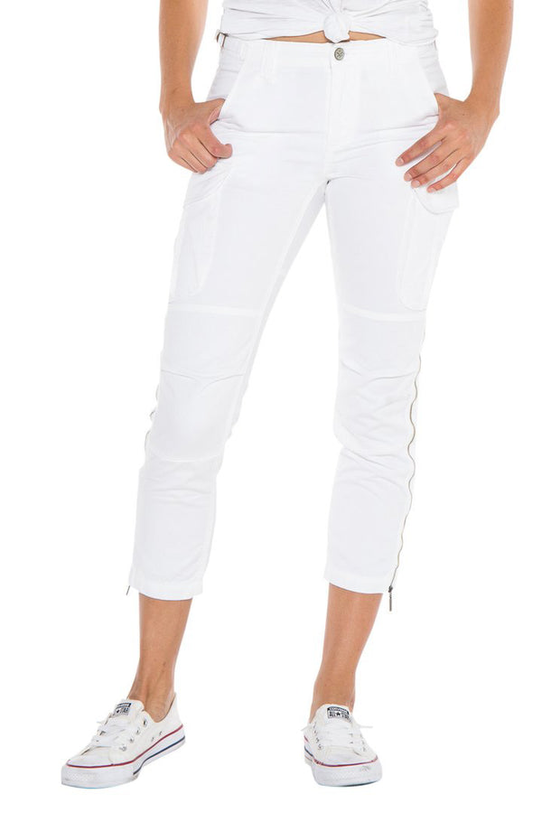 EASY FIT CARGO PANT - WHITE - Da-Nang