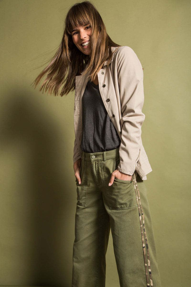 WIDE LEG PANT- OLIVE BRANCH