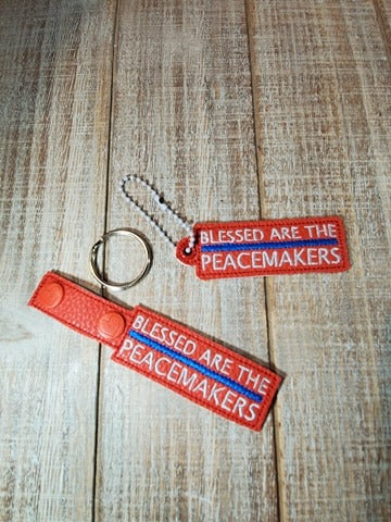 Blessed are the Peacemakers Key Fob