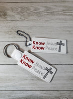 Know Jesus Know Peace Key Fob