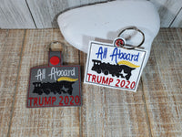 All Aboard Trump 2020 Key Fob