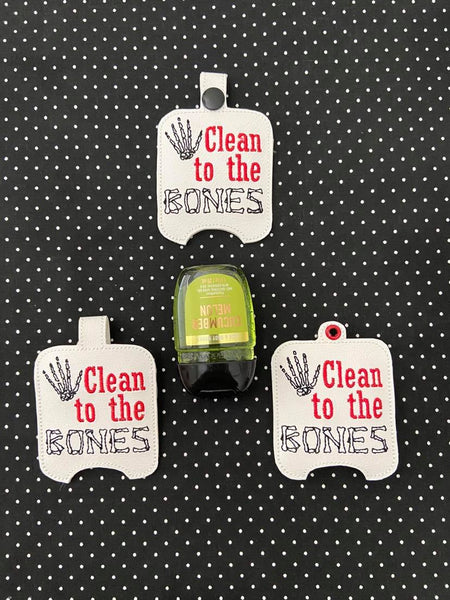 Clean to the Bones BBW Sanitizer Holder