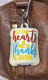 Hearts Full of Thanks and Giving BBW Sanitizer Holder