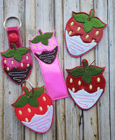 Chocolate Covered Strawberry Key Fob - 2 Styles