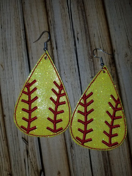 Teardrop Earring Baseball/Softball