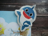 Shark Family Corner Bookmark SET - 6 Designs