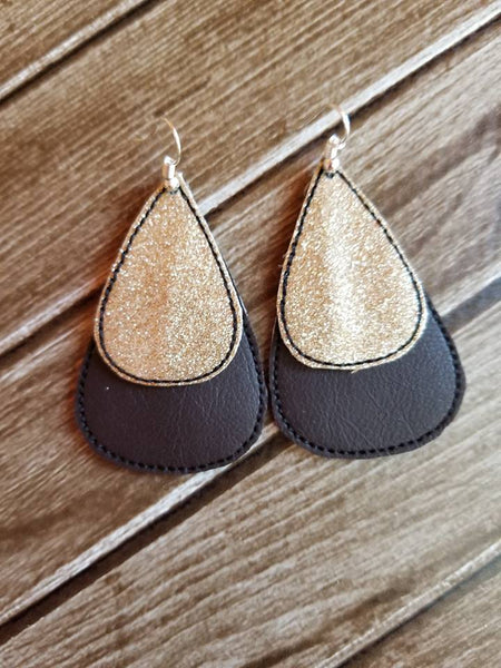 Tear Drop Earring Double Layer