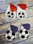 Tear Drop Earring Soccer - 2 Styles
