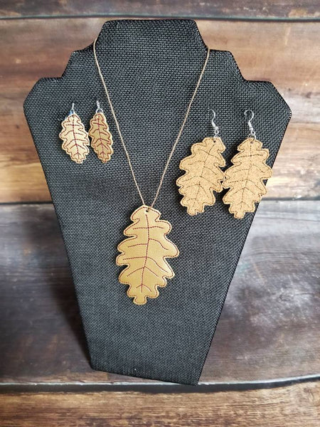 Fall Leaf Earring & Pendant