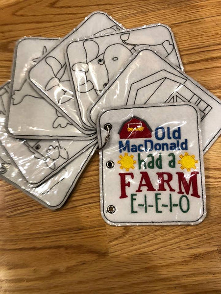 Old MacDonald Coloring Book - 5x7 ONLY