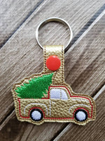 Vintage Truck with Tree Key Fob - 2 Styles