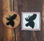 Rustic Coaster Collections - Moose Head ONLY - 2 Styles