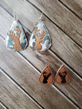 Tear Drop Earring Deer Head- 2 Sizes