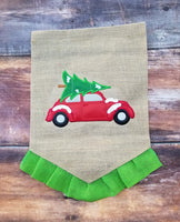 Vintage Car with Tree - Applique