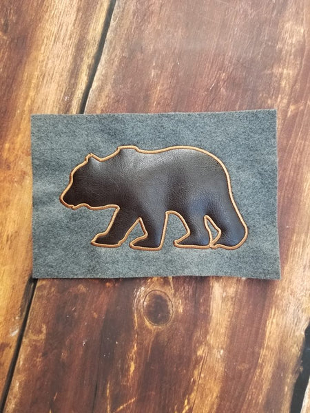 Bear Silhouette - 3 Sizes - 4x4 Fill - 5x7 and 6x10 Applique