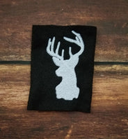 Deer Silhouette - 3 Sizes - 4x4 Fill - 5x7 and 6x10 Applique