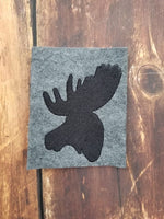 Moose Silhouette - 4x4 Fill - 5x7 and 6x10 Applique