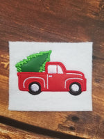 Vintage Truck with Tree FULL Applique - 3 Sizes