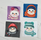 EXCLUSIVE Snowman Family Applique - 2 Sizes