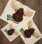 Christmas Moose Applique - 3 sizes