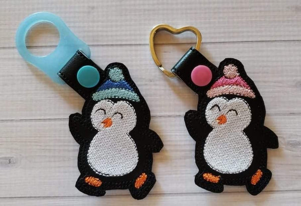 Ice Skating Penguin Fob - 2 Styles