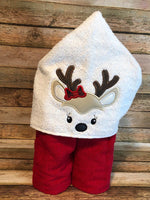 Girl Reindeer Face Only - 2 Sizes