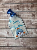 EXLCUSIVE Snowman Family Package Tag Set