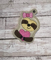 Valentine Sloth Fob and Eyelet