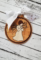 Embroidery Angel Hop Angel Ornament - 4x4 and 5x7 Grouped
