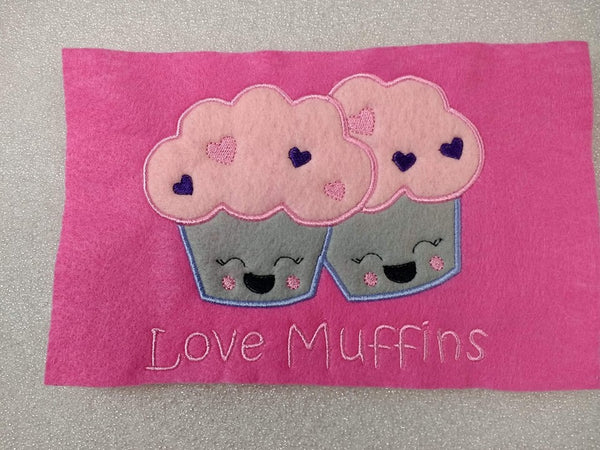 Love Muffin Valentine Applique - 3 Sizes