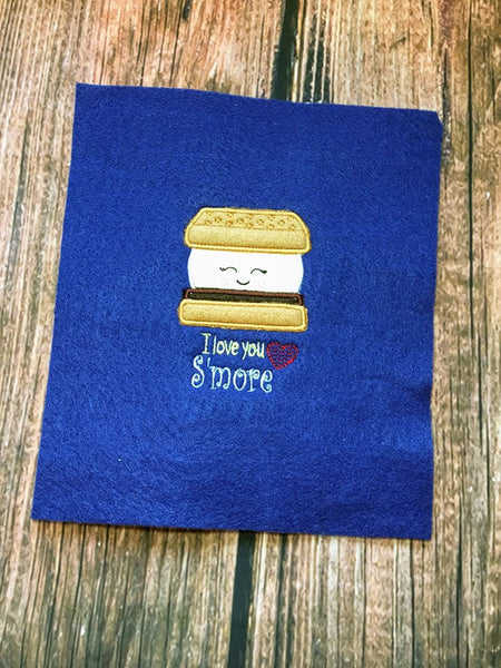 I Love You S'more Valentine Applique - 3 Sizes