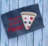 Pizza My Heart Valentine Applique - 3 Sizes