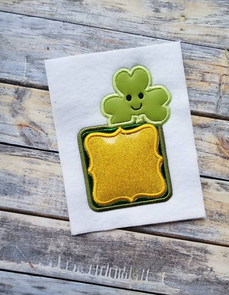 St Patrick's Day Monogram Frame Shamrock - 3 Sizes