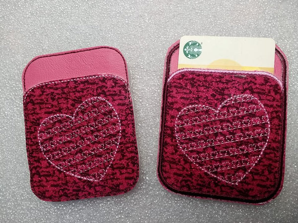 Credit Card Holder Hearts - 2 Finishes