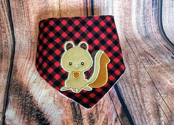 Exclusive Woodland Squirrel Applique - 3 Sizes