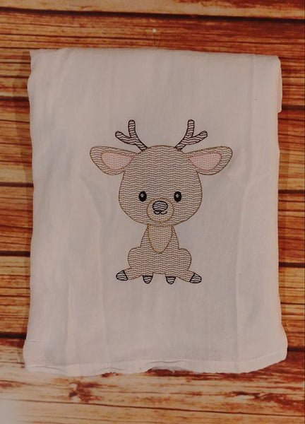 Woodland Animal Deer Sketch - 3 Sizes