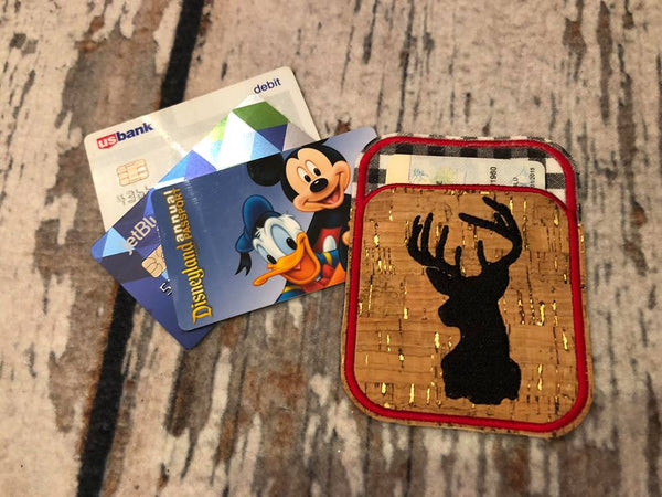 Credit Card Holder Deer Head - 2 Finishes