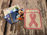 Credit Card Holder Awareness Ribbon - 2 Finishes