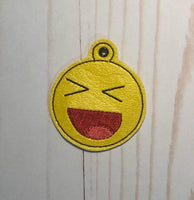 Excited Smiley Face Key Fob - 2 Styles