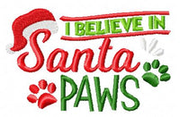 I Believe in Santa Paws Wording