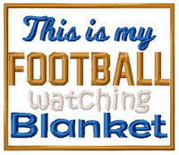 Football Watching Blanket 8x8 ONLY