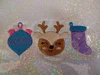 Ornament, Deer, Stocking Applique Trio