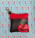 A+ Teacher Zipper Bag - 4 Sizes
