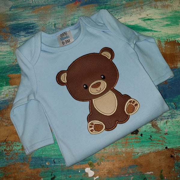 Exclusive Woodland Bear Applique - 3 Sizes