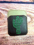 Credit Card Holder Cactus - 2 Finishes